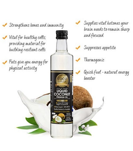 image of benefits of liquid coconut oil