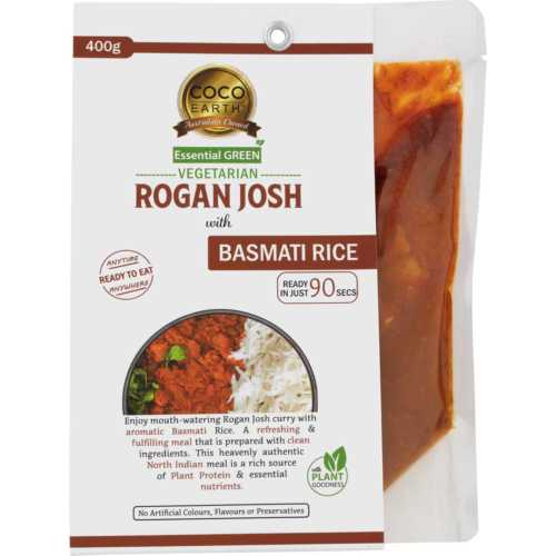 Vegeterian Rogan Josh with Basmati rice meal