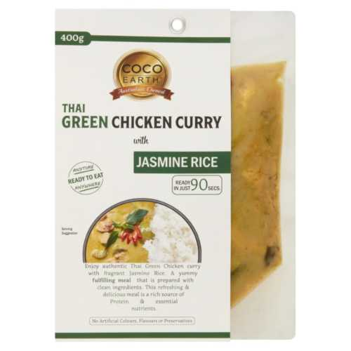 Thai Green Chicken Curry with Jasmine Rice 400g