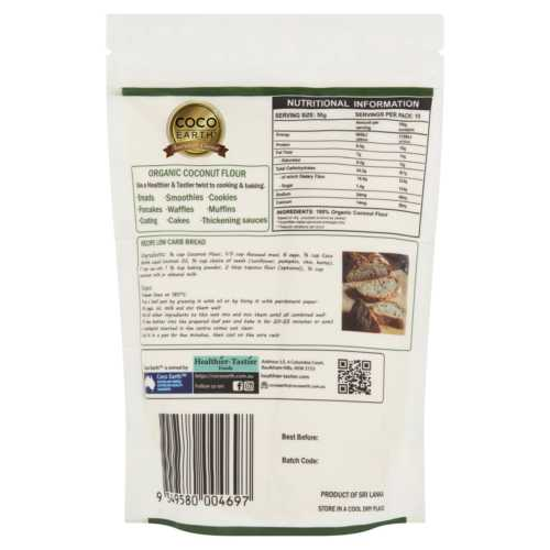 Coco Earth Organic Coconut Flour 500g